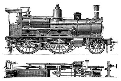 Compound Steam Locomotive Art Print by Science Photo Library