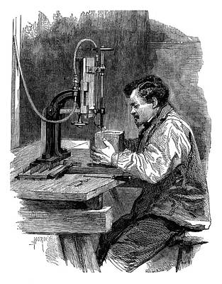 1874 Photograph - Compressed Air Engraving by Science Photo Library