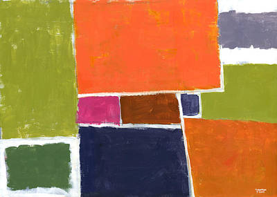 Color Block Painting - Compromisso by Douglas Simonson