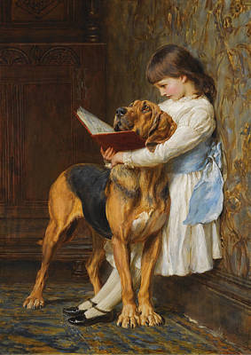 Briton Riviere Painting - Compulsory Education by Briton Riviere