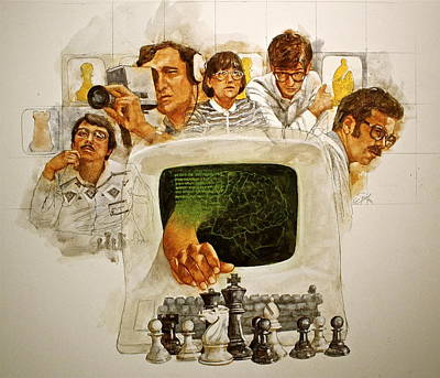 Painting - Computer Chess - A Film  by Cliff Spohn