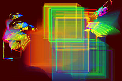 Photograph - Computer Generated Abstract Squares Fractal Flame by Keith Webber Jr