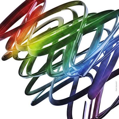 Digital Digital Art - Computer Generated Abstract Wave by Frank Ramspott