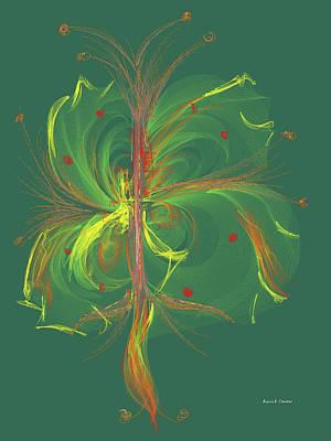 Computer Generated Floral Design Art Print