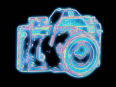 Nikon Wall Art - Photograph - Computer Graphic Of A Nikon Slr Camera by Alfred Pasieka/science Photo Library