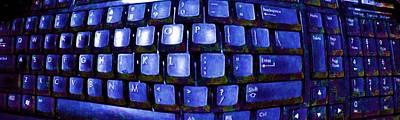 Computer Keyboard  Art Print by Dan Twyman