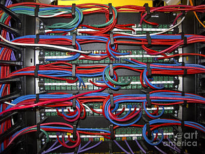 Featured Tapestry Designs - Computer Networking Ethernet Patch Panels by Jason O Watson