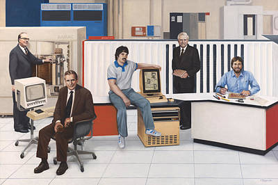 Wall Art - Painting - Computer Pioneers Of Silicon Valley by Terry Guyer