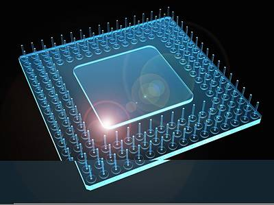 Computer Processor, Artwork Art Print by Science Photo Library