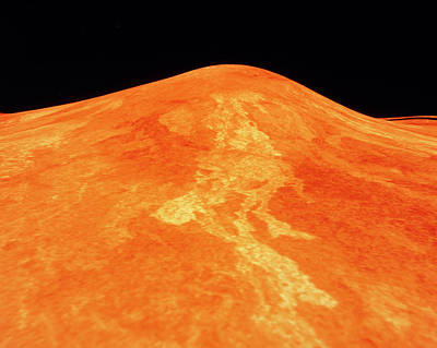 Topography Wall Art - Photograph - Computer Topography Of Venus by Nasa/science Photo Library