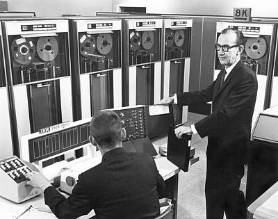 Sixties Photograph - Computers Used At Gmc by Underwood Archives