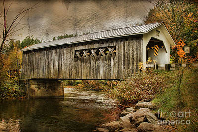 Comstock Bridge 2012 Art Print by Deborah Benoit