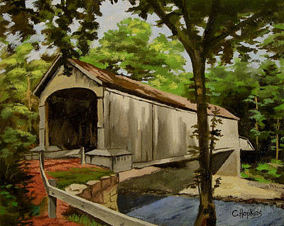 Comstock Covered Bridge East Hamptom Connecticut Art Print