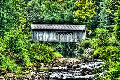 Photograph - Comstock Covered Bridge by John Nielsen