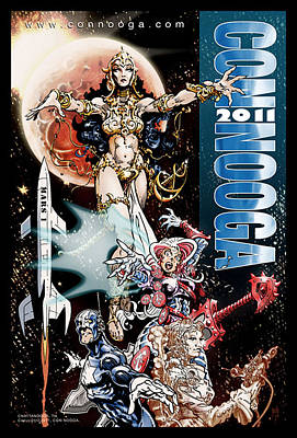Fandom Drawing - Con Nooga Poster by Rob Brown