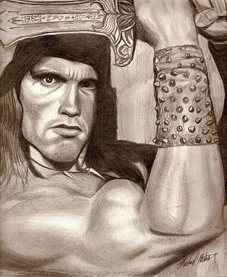 Drawing - Conan by Michael Mestas