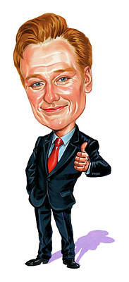Comics Royalty-Free and Rights-Managed Images - Conan OBrien by Art