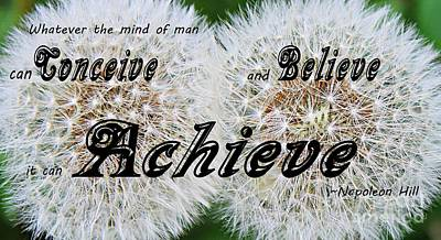 Conceive Believe Achieve Art Print by Barbara Griffin
