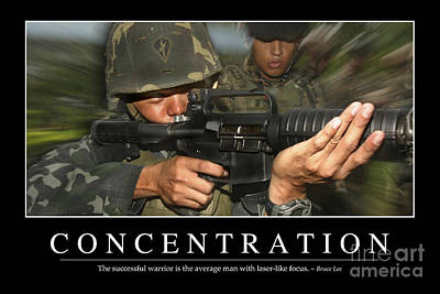 Concentration Inspirational Quote Art Print by Stocktrek Images