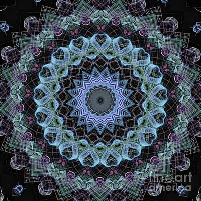 Concentration Digital Art - Concentric Circles Of Life In Blue by Dawn Boyer