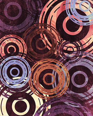 Digital Art - Concentric Intensity - Plum by Shawna Rowe