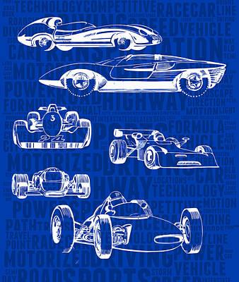 Asphalt Digital Art - Concept-art Of Sports Cars by Daniel Gladkii