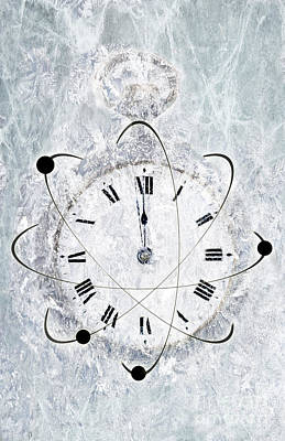 Photograph - Conceptual Illustration Of Frozen Time by George Mattei