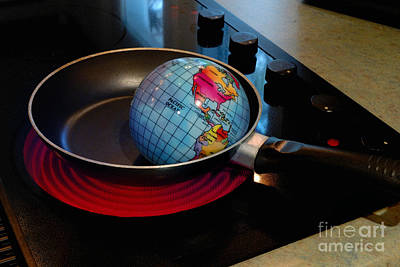 Global Warming Photograph - Conceptual Image - Global Warming by Amy Cicconi