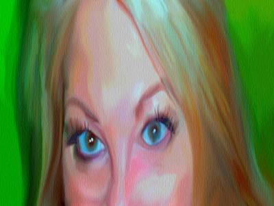 Portrait Study Mixed Media - Concern by Dennis Buckman