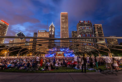 Photograph - Concert At Millenium Park by James Howe