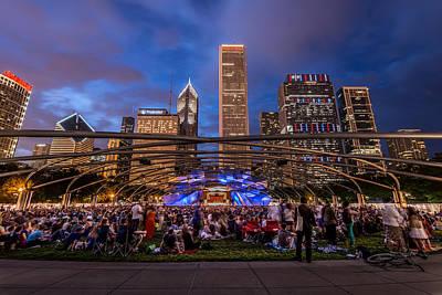 Photograph - Concert At Millenium Park by James Howe