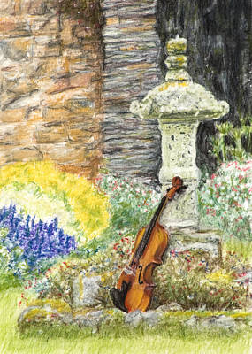 Drawing - Concert Dans Le Jardin by Kate Sumners