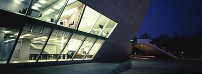 Concert Hall Lit Up At Night, Casa Da Art Print by Panoramic Images