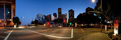 Walt Disney Concert Hall Photograph - Concert Hall Lit Up At Night, Walt by Panoramic Images