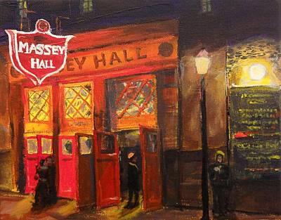 Massey Hall Wall Art - Painting - Concert Night by Brent Arlitt
