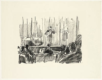Concert With Guitar Player, Isaac Israels Art Print