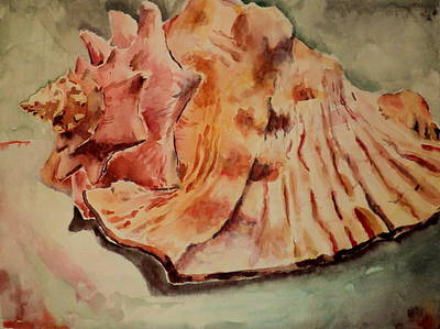 Art Print featuring the painting Conch Contours by Jeffrey S Perrine