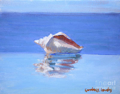 Infinity Pool Painting - Conch On The Edge by Candace Lovely
