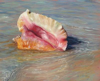 Ripple Painting - Conch Shell by David Stribbling