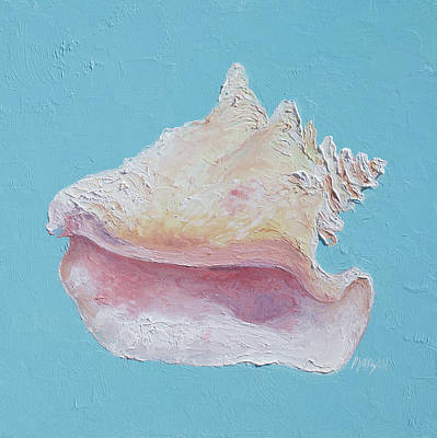 Cabin Wall Painting - Conch Shell by Jan Matson