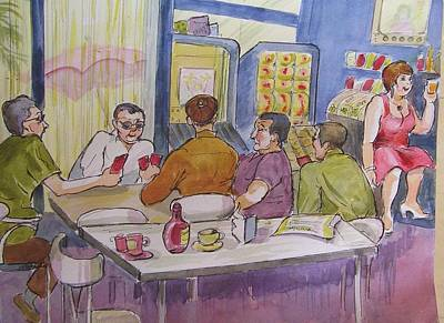 Conchita's Bar Art Print by Molly Farr