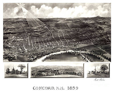 Concord Painting - Concord - New Hampshire - 1899 by Pablo Romero