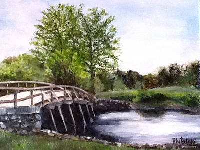 Painting - Concord Bridge by Cindy Plutnicki