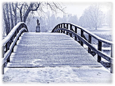 Concord Bridge In Winter Art Print by Bill Boehm