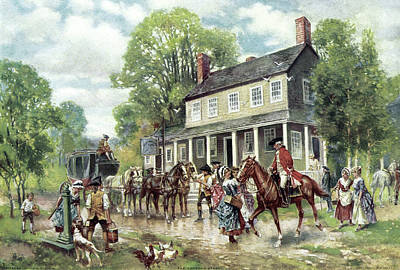 Concord Drawing - Concord, C1775 by Granger