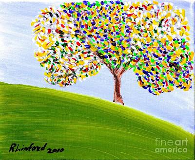 Painting - Concord California Oak 1 by Richard W Linford