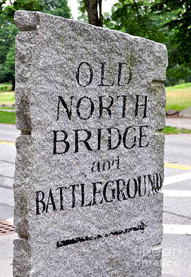 Photograph - Concord Ma Old North Bridge Marker by Staci Bigelow