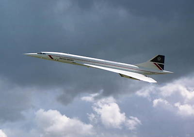 Concorde 01 Art Print by Paul Gulliver