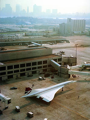 Concorde At An Airport Print by Us National Archives