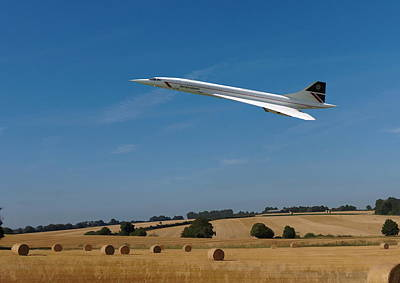 Digital Art - Concorde At Harvest Time by Paul Gulliver